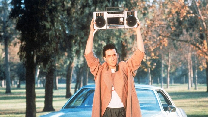 <strong>47. SAY ANYTHING... (1989)</strong> <br><br> Is there a more iconic image from '80s rom-coms than John Cusack holding a boombox over his head, wooing Ione Skye's Diane? Nope, we couldn't think of one either.