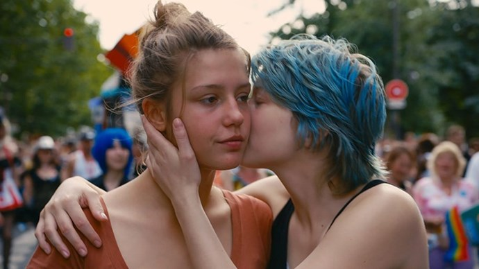 <strong>48. BLUE IS THE WARMEST COLOUR (2014)</strong> <br><br> This sexually explicit, three-hour long love story about two young French lesbians made stars of Lea Seydoux and Adèle Exarchopoulos.