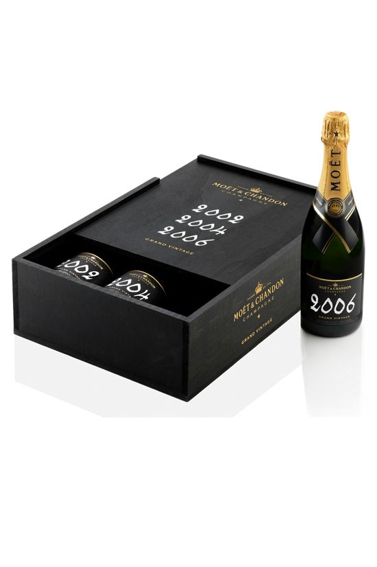 "<strong>Grand Vintage Collection Pack</strong>, $155, <a href=""http://moet-hennessy-collection.com.au/home"">Moët & Chandon</a> <br><br> Because you can never have too many."