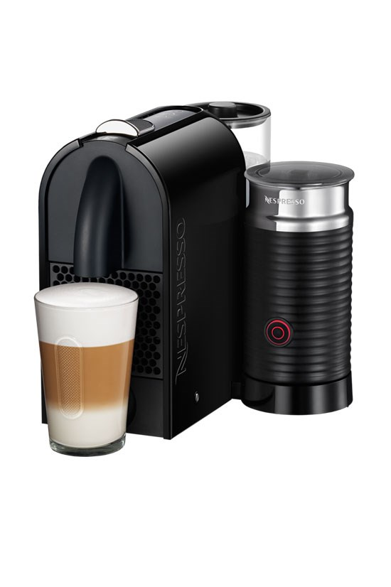 "<strong>Coffee machine</strong>, $299, UMilk DeLonghi Black & integrated Aeroccino, Nespresso, <a href=""https://www.nespresso.com/au/en/product/delonghi-umilk-pure-black-EN210BAE"">nespresso.com</a> <br><br> For their holiday house."