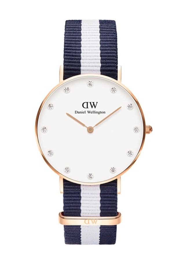 "Stripe Watch, $249, Daniel Wellington, <a href=""http://www.theiconic.com.au/classy-glasgow-34mm-213792.html3"">theiconic.com.au</a>"