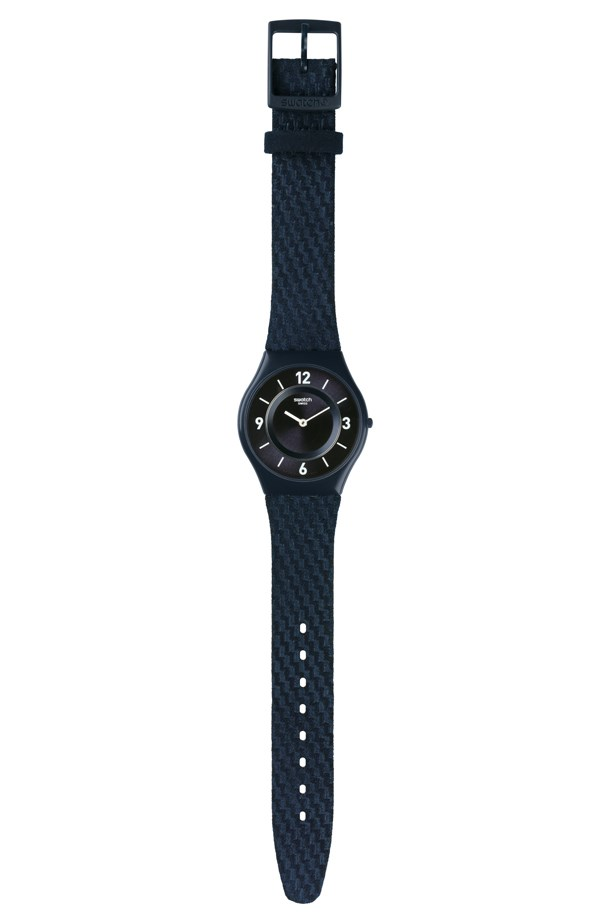 """Swatch Watch, $145, Swatch, <a href=""""http://shop.swatch.com/en_au/watches/skin/classic/shantaram-sfv109.html"""">swatch.com/en_au</a>"""