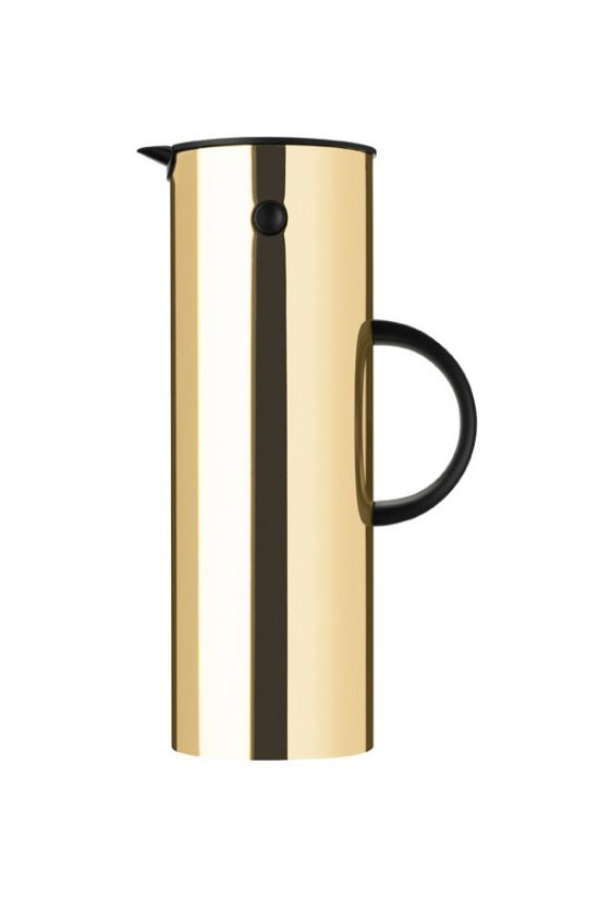"<strong>Stelton Vacuum Jug</strong>, $245, <a href=""http://www.safariliving.com/tableware/bar-accessories/stelton-vacuum-jug-gold"">safariliving.com</a> <br><br> For the friend that likes to entertain."