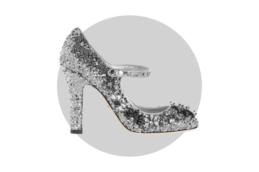 "For shoes, however, sequins are still the new sequins. Try these <a href=""http://www.net-a-porter.com/au/en/product/605129/Dolce_and_Gabbana/sequined-velvet-mary-jane-pumps"">Dolce and Gabbana</a> mary janes on for size."