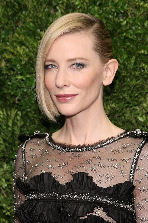 <strong>17th November </strong> <br><br><strong>Cate Blanchett</strong> mixes her classic glowy makeup with a deep side fringe and (faux) shaved side and proves the she can do no wrong when it comes to the red carpet.