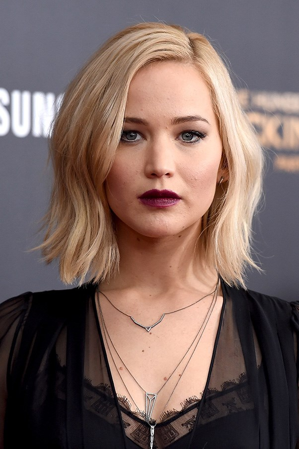 <strong>18th November</strong> <br><br><strong> Jennifer Lawrence</strong> channels modern Gothic romance in a light smoky eye and wine-stained lips at the New York Premiere for <em>'The Hunger Games: Mockinjay – Part 2'</em>.