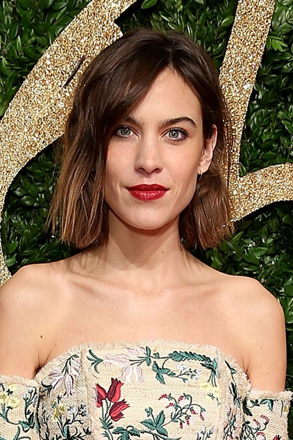 <strong>23rd November </strong> <br><br>Never one to disappoint, <strong>Alexa Chung</strong> balances her floral dress with a tousled bob, dark eyes and red lips.