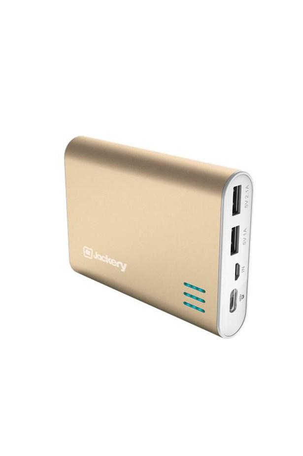 "Jackery Gaint Powerbank, $99, <a href=""https://www.jbhifi.com.au/phones/Phone-Accessories/jackery/jackery-12000mah-giant-powerbank-gold/806618/"">Jb Hifi</a>."