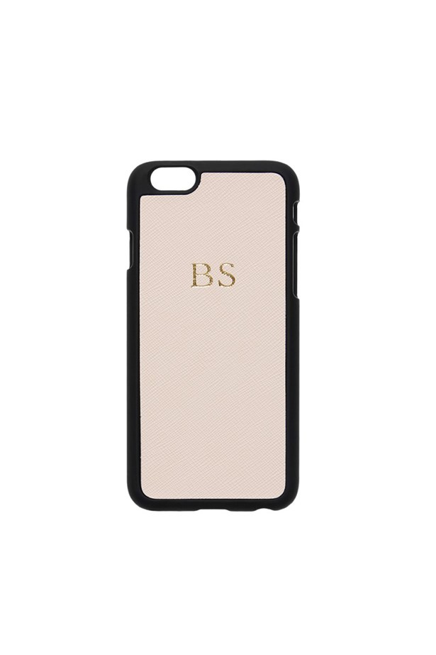 "The Daily Edited Phone Case, $49.95, <a href=""http://thedailyedited.com/shop/pale-pink-and-black-iphone-6-cover/"">The Daily Edited</a>."