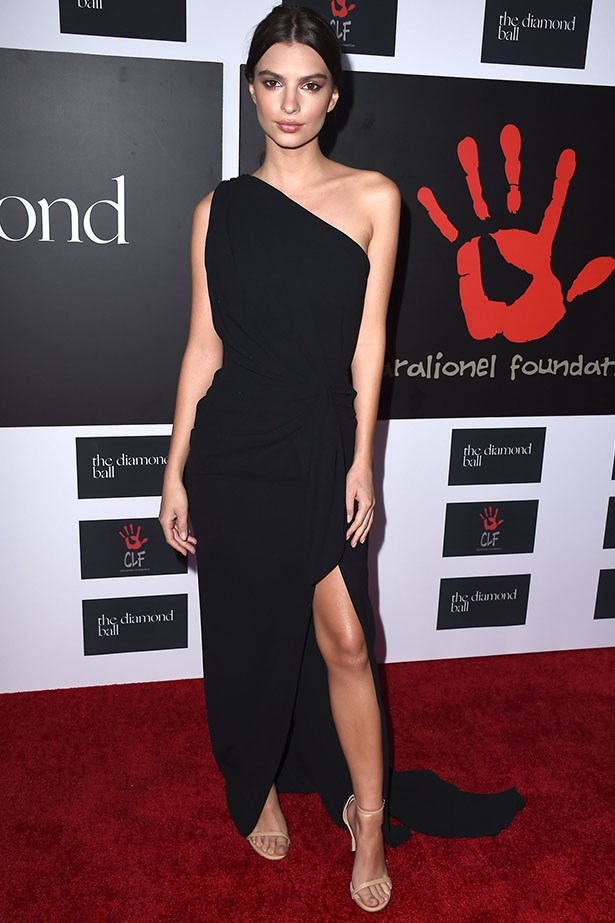 Emily Ratajkowski makes this LBD look criminally good. We mean ... damn. Image: Getty