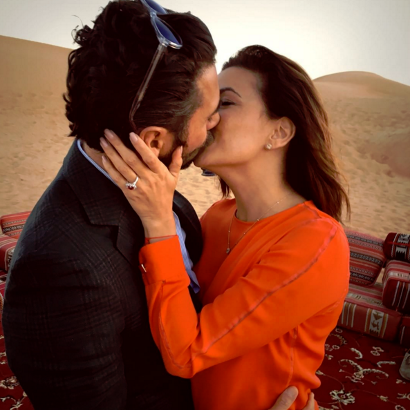 """Eva Longoria and Jose Antonio Baston are engaged! <br>The couple announced the news on Instagram, with Eva posting this pic of her gorgeous Ruby ring with the caption, """"Ummmm so this happened....#Engaged #Dubai #Happiness."""" <br>The couple have been dating since 2013. Congratulations!"""