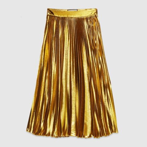 "<strong>GUCCI PLEATED METALLIC SKIRT</strong> <br><br> <a href=""http://www.gucci.com/us/en/pr/women/womens-ready-to-wear/womens-skirts-shorts/lurex-pliss-skirt-p-409369ZGM207362"">www.gucci.com</a>"