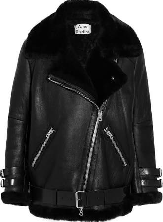 "<strong>ACNE SHEARLING JACKET</strong> <br><br> <a href=""http://www.acnestudios.com/shop/women/coats-jackets/velocite-black.html"">www.acnestudios.com</a>"
