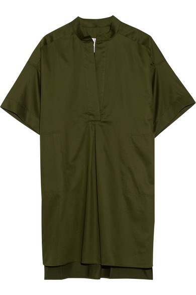 "<strong>LITTLE GREEN DRESSES</strong> <br><br> Eres Dress, <a href=""http://www.net-a-porter.com/au/en/product/533969/eres/eole-tempete-cotton-coverup?cm_mmc=LinkshareUK-_-TnL5HPStwNw-_-Custom-_-LinkBuilder&siteID=TnL5HPStwNw-hDOuFcpgTADs4jElHqQ5SQ"">www.net-a-porter.com</a>"