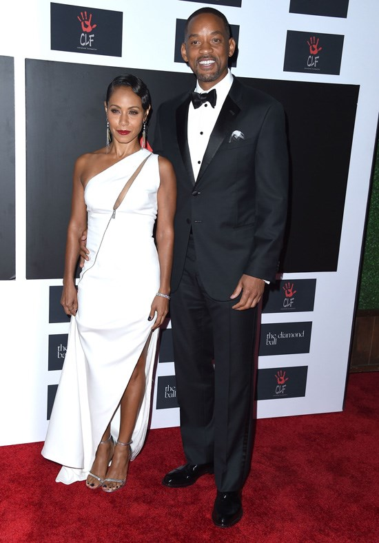 Jada Pinkett-Smith and Will Smith attend Rihanna's Diamond Ball, Los Angeles, December 2015.
