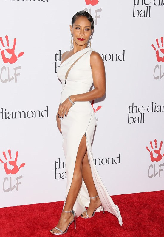 Jada Pinkett-smith attends Rihanna's Diamond Ball, Los Angeles, December 2015.