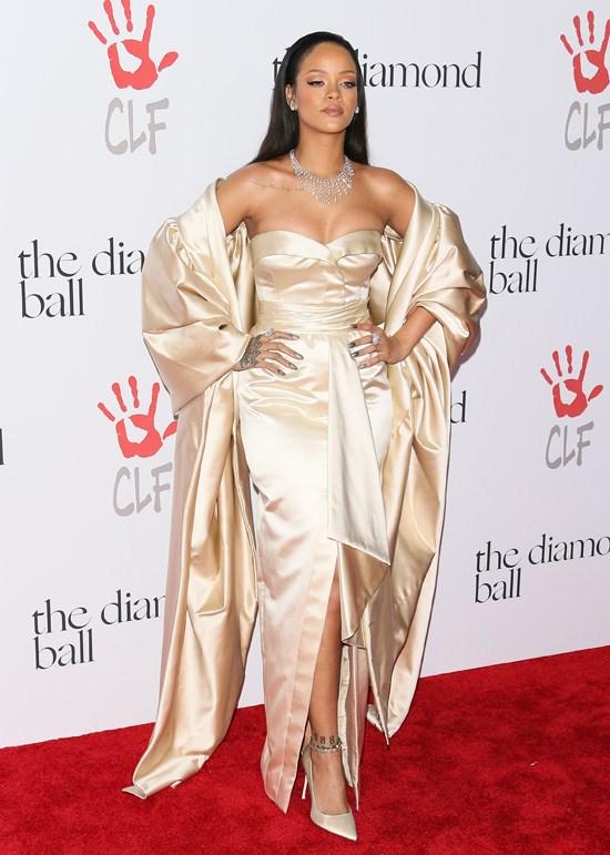 Rihanna attends the Diamond Ball, Los Angeles, December 2015.