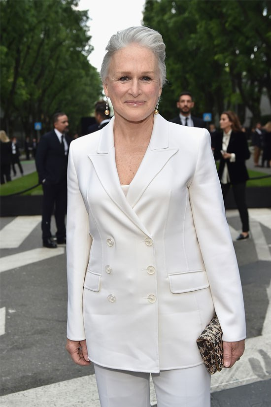 """<strong>Glenn Close</strong> <br><br> Glenn Close presented the award for Best Actor at the Gotham Independent Film Awards last month, in which she <a href=""""http://nymag.com/thecut/2015/12/helen-mirren-glenn-close-older-women-still-sexy.html#"""">commented on her playing the role of a man</a>: """"Not only have I played opposite many a fine leading man, I have been a leading man, or should I say, a woman surviving disguised as a leading man. And I'm thinking that maybe that's a way women can keep getting better roles in Hollywood. We can just play men! Then we'd be seen as sexy éminences grises as we get older rather than just older""""."""