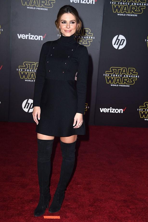 Maria Menounos as PRINCESS LEIA IN THIGH-HIGHS.