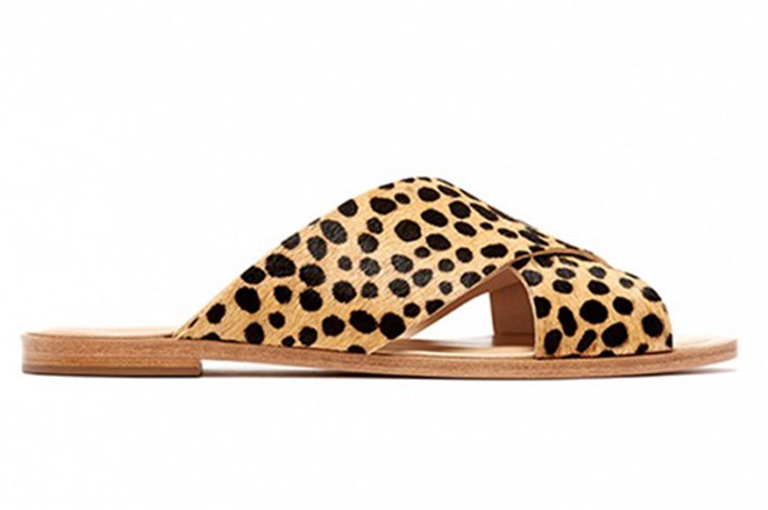 <strong>Brooke Bickmore, Workflow Director</strong> <br><br>Slides, $230, Loeffler Randal, brandoutlet.com <br><br> My <strong>Loeffler Randal</strong>l leopard print slides. Never in my life did I think a pair of leopard print anything would be on such high rotation. I now plan most of my summer outfits starting south of my ankles.