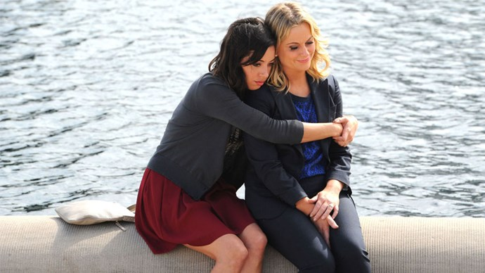 <strong>Leslie and April, <em>Parks and Recreation</em></strong> <br><br> While Leslie and Ann Perkins will go down in history as Parks and Rec's dearest love story (friend or otherwise), the final season of Parks saw Leslie and April growing far closer together than the season-one version of April probably ever would've anticipated. Whether April was being the sardonic force that kept Leslie grounded or Leslie was helping April cope as she transitioned into a new career or contemplated parenthood, this odd little pair of friends demonstrated that it's possible, and maybe even desirable, to be besties with someone who's nothing like you (April and Donna deserve props for their final season friendship too!).