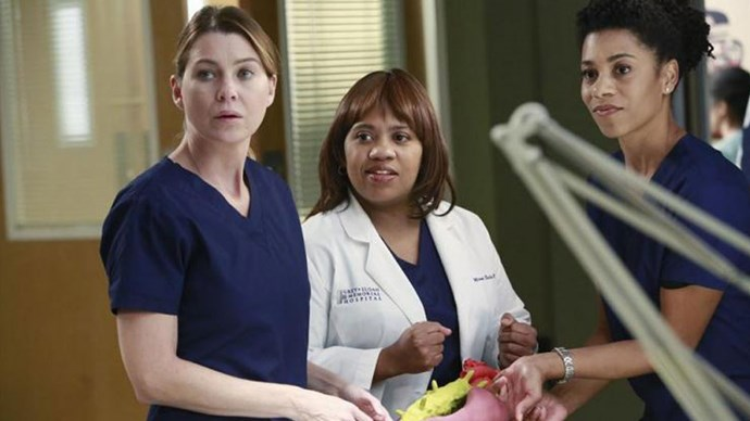 "<strong>Bailey and Meredith, <em>Grey's Anatomy</em></strong> <br><br> Meredith's been sadly without a bestie since Cristina left the show two seasons ago. Alex Karev has stepped up nicely as her fill-in ""person,"" but Meredith's friendship with Bailey has become an essential part of the show too, even though (as Chandra Wilson herself put it!) she and Meredith never actually use the term ""friend."" Regardless of the missing label, Bailey and Meredith have had each other's backs, both personally and professionally, through every single disaster that's happened on Grey's Anatomy over the past 10 years, especially since Meredith lost Derek. That's friendship."