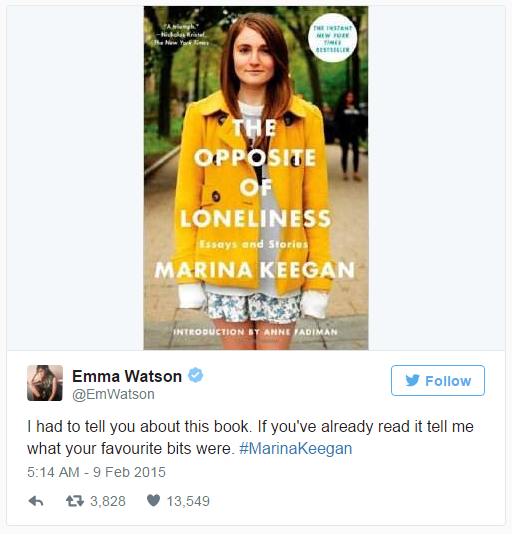 <strong>11. <em>The Opposite of Loneliness</em> by Marina Keegan</strong> <br><br> The surefire sign of a great book: wanting to talk about your favourite parts the moment you put it down.
