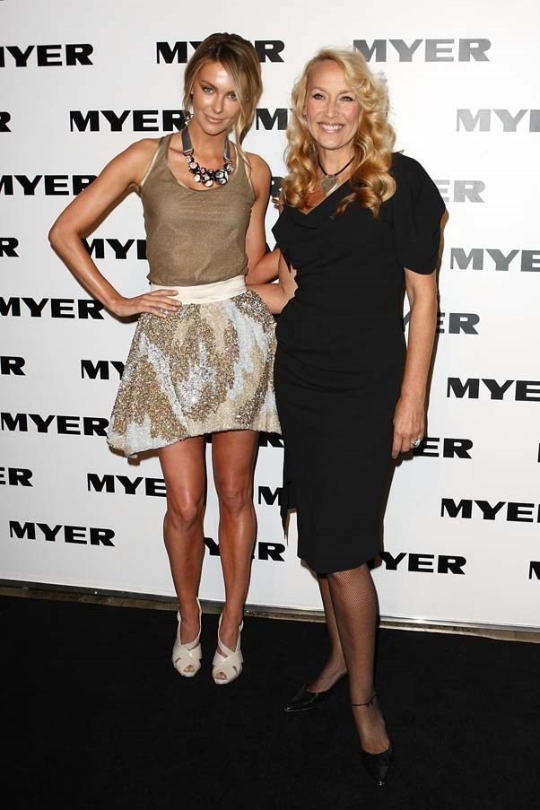 2010, August: Dressing up a simple tank with an embellished skirt and statement necklace at the MYER Spring/Summer 2010/2011 Collection Launch in Carriageworks, Sydney.