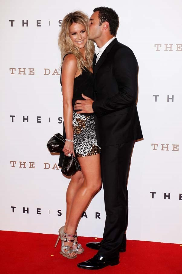 2011, October: Ready to party in strappy heels and a sequinned skirt at The Star Opening Party in Sydney with her husband Jake Wall.