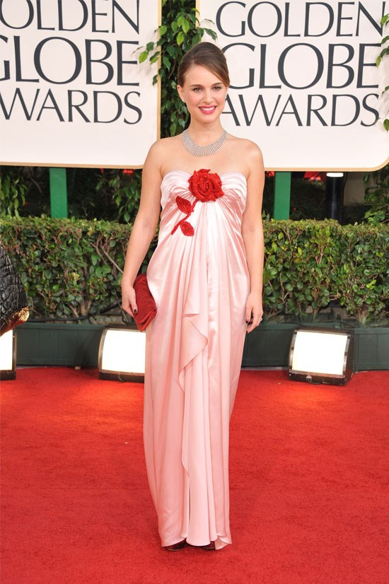<strong>Natalie Portman at the Golden Globes, 2011</strong> <br><br> Natalie Portman absolutely nailed red carpet-ready maternity style in this Viktor & Rolf gown.