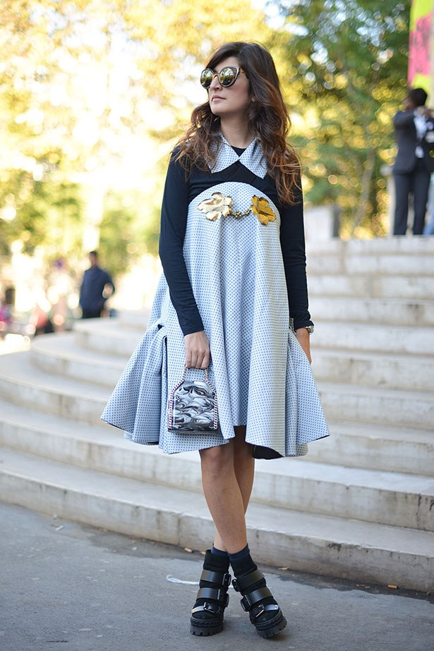 Blogger Valentina Siragusa is a fan of colours, patterns and the prettiest of dresses. Feminine with a lot of edge.