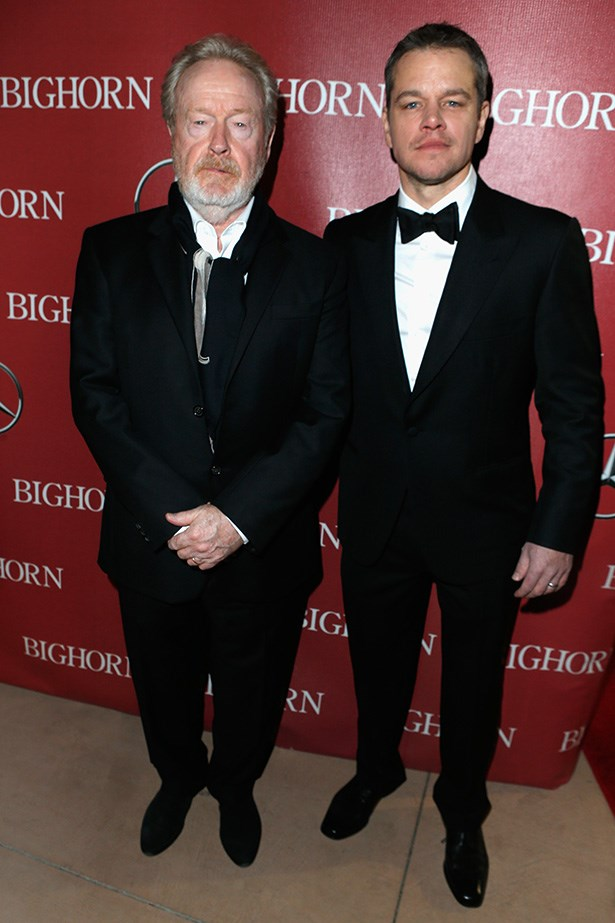 Ridley Scott and Matt Damon