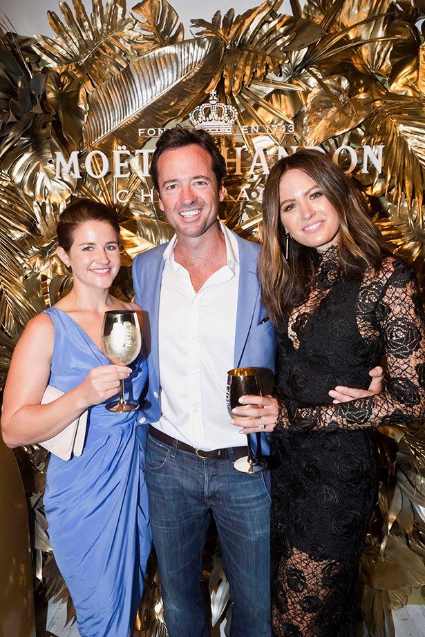 Michelle Payne, Hamish McLachlan and Jesinta Campbell