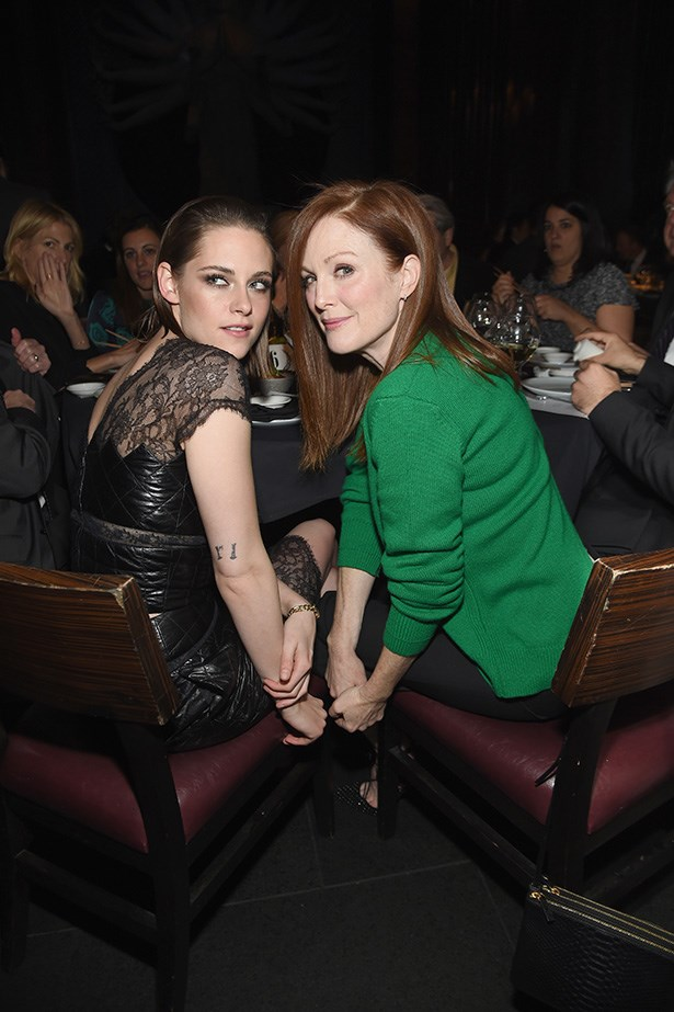 <p><strong>Kristen Stewart and Julianne Moore</strong> <p>'We've been friends forever' friends.