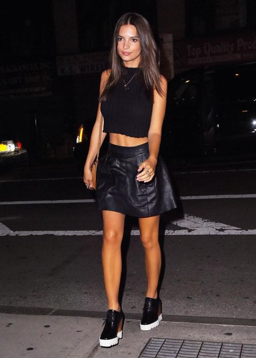 <p><strong> Celebs wearing Stella McCartney platforms: Emily Ratajkowski</strong></p> <p>The model of the moment chose a pair with wedge heels to wear on a night out.</p>