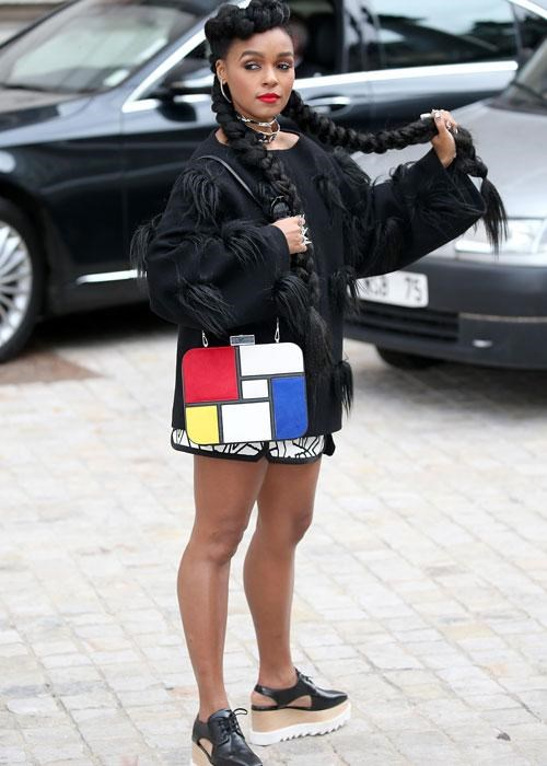 <p><strong> Celebs wearing Stella McCartney platforms: Janelle Monae</strong></p> <p>Janelle Monae opted for a pair with cut-outs.</p>