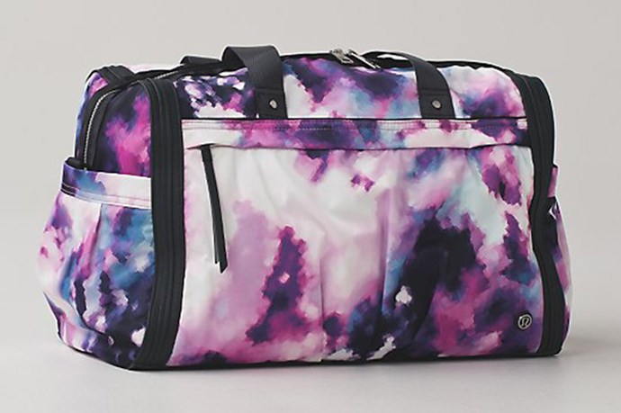 "Duffel Bag, $159, Lululemon, <a href=""http://www.lululemon.com.au/products/clothes-accessories/women-bags/Urban-Warrior-Duffel?cc=22398&skuId=au_3653352&catId=women-bags"">lululemon.com.au</a>"