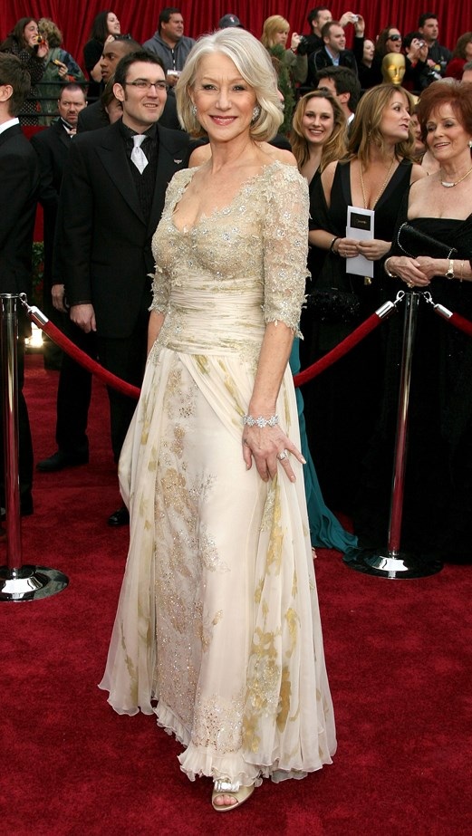 Helen Mirren certainly looked queenly in 2006 when she picked up her statue for The Queen. She wore Chrisitan Lacroix.