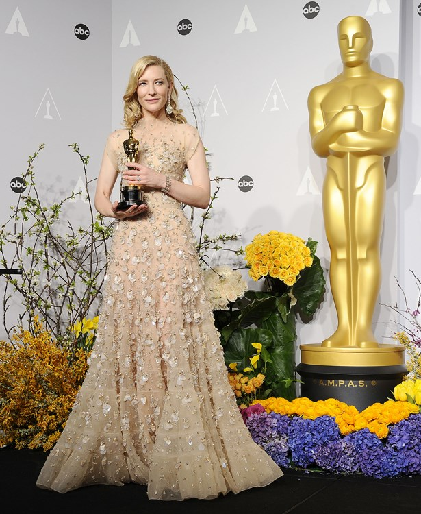 Cate Blanchett's 2013 dress was Armani and was reportedly very heavy!