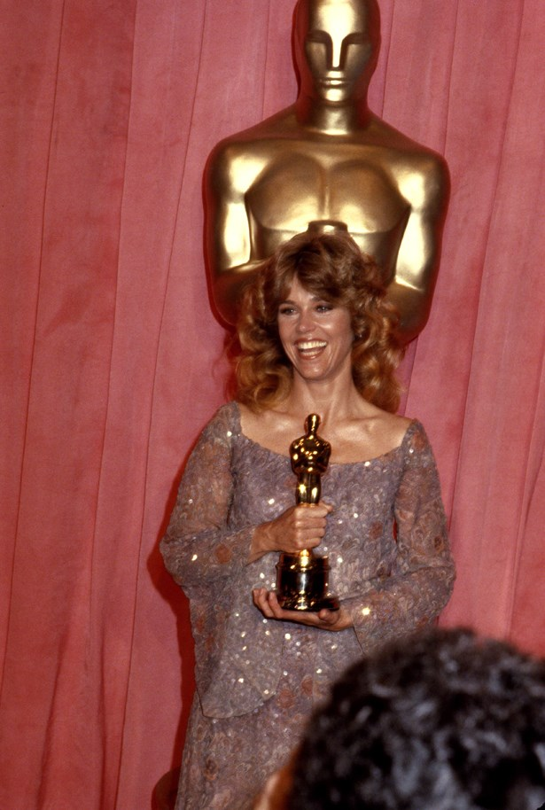 Jane Fonda went sparkly silver in 1978.
