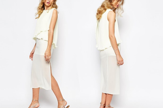"<a href=""http://www.asos.com/au/darccy/darccy-midi-dress-with-pleat-layer-top/prod/pgeproduct.aspx?iid=5858948&clr=Cream&SearchQuery=wedding&pgesize=34&pge=1&totalstyles=70&gridsize=3&gridrow=2&gridcolumn=1"">Darccy Midi Dress with Pleat Layer Top</a>, $89.00."