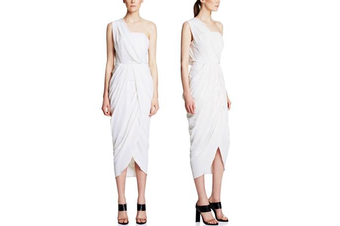 "<a href=""http://www.manningcartell.com.au/all/dresses/rhine-maiden-dress-white.html"">Manning Cartell Rhine Maiden Dress</a>, $599."