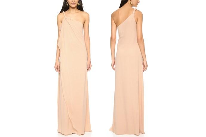 "<a href=""https://www.shopbop.com/one-shoulder-chiffon-gown-rachel/vp/v=1/1561885376.htm?folderID=2534374302063518&fm=other-shopbysize-viewall&os=false&colorId=11231"">Rachel Zoe One Shoulder Silk Maxi Dress</a>, $208."