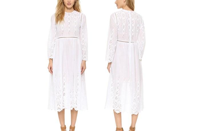 "<a href=""https://www.shopbop.com/ticking-broderie-split-dress-zimmermann/vp/v=1/1552648239.htm?folderID=2534374302063518&fm=other-shopbysize-viewall&os=false&colorId=12397"">Zimmermann Broderie Split Dress</a>, $630."