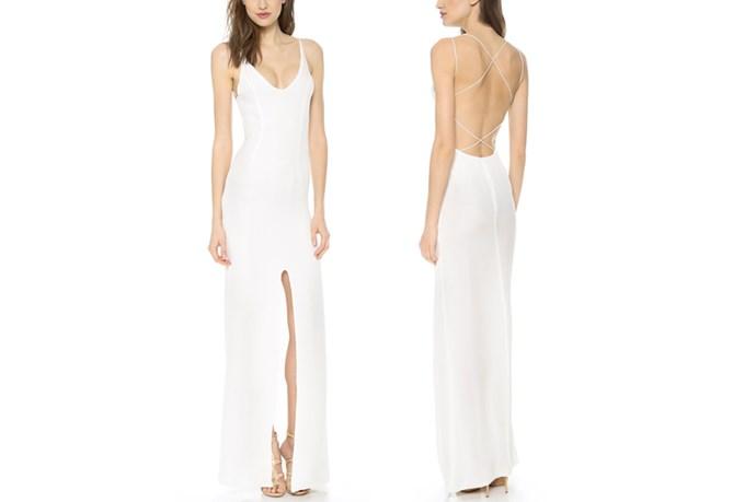 "<a href=""https://www.shopbop.com/crossed-back-maxi-dress-olcay/vp/v=1/1587775254.htm?folderID=2534374302063518&fm=other-shopbysize-viewall&os=false&colorId=12397"">Olcay Gulsen Crossed Back Maxi Dress</a>, $600."