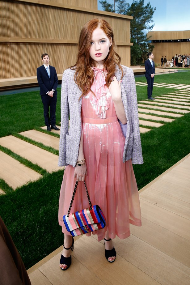 Ellie Bamber at Chanel.
