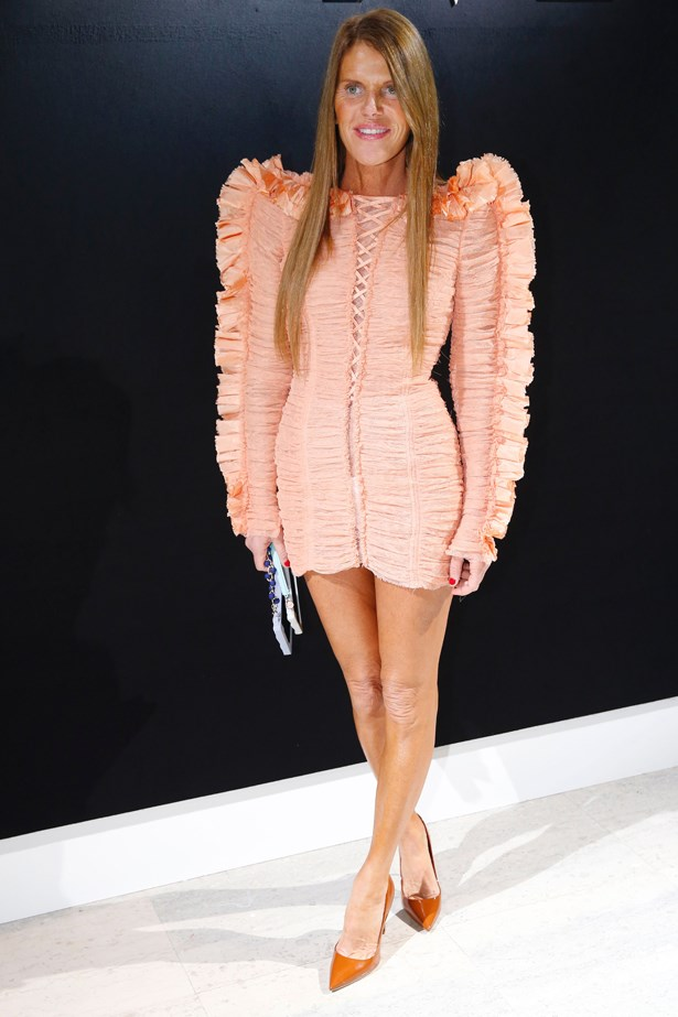 Anna Dello Russo at Armani Prive.