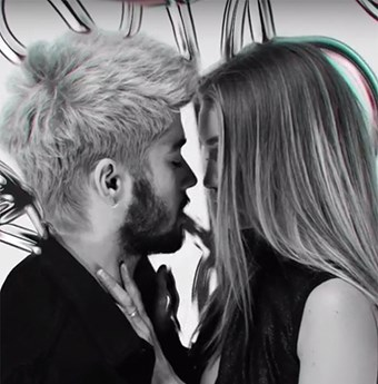 Zayn Malik and Gigi Hadid in the Pillowtalk video clip