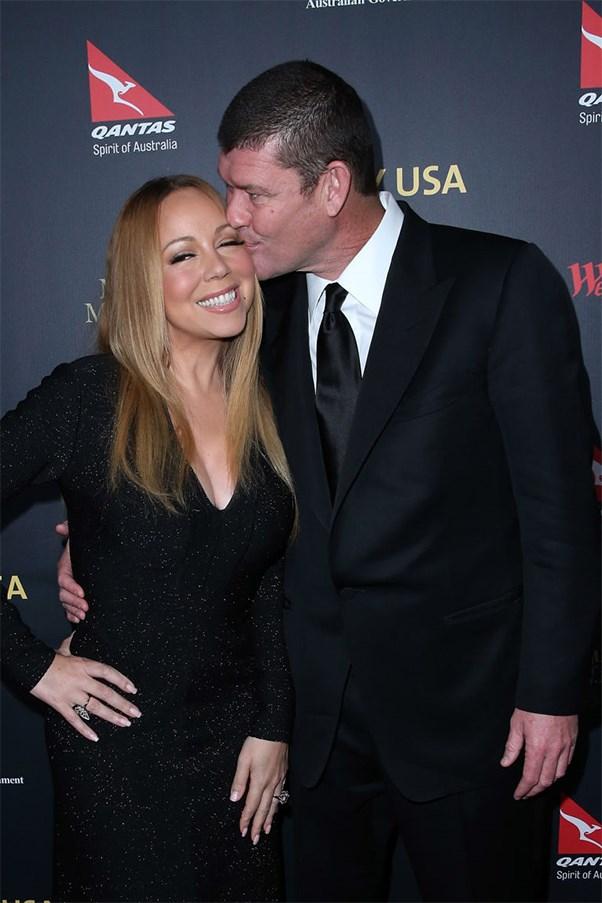 Mariah Carey and James Packer at the G'Day Los Angeles Gala 2016