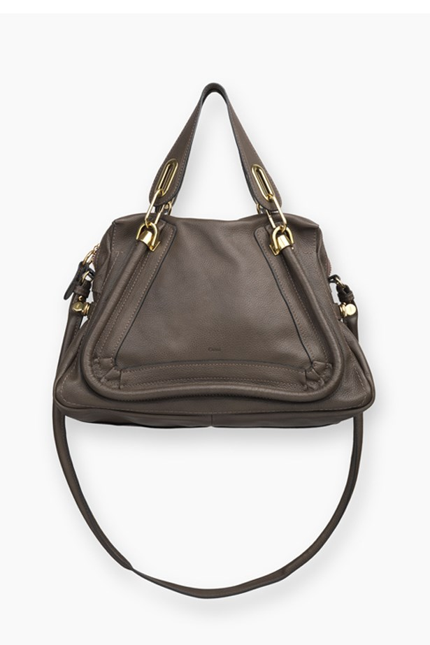 A chocolate brown Chloe Paraty bag